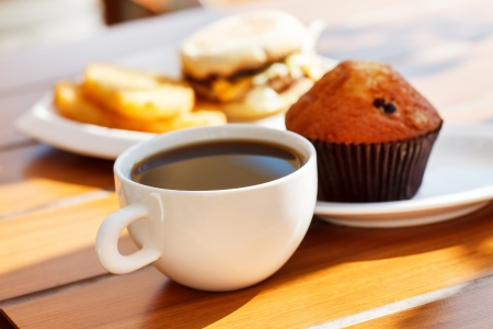 coffee and cake: breakfast Stock Photo
