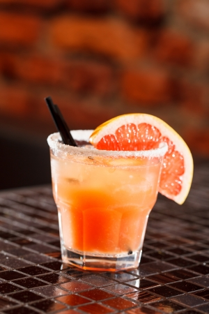 cocktail with grapefruit photo