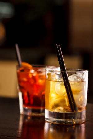cocktail drinks: cocktail in the bar