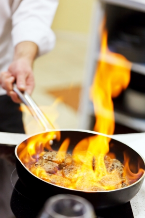 pot with fire Stock Photo - 24506736
