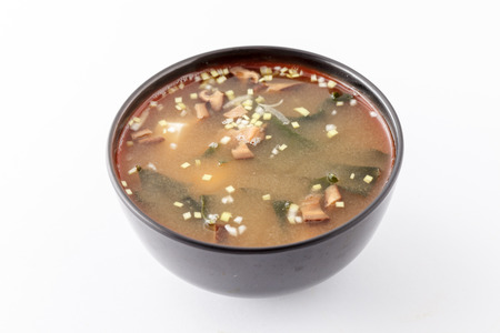 hashi: Miso soup , Japanese Food. Stock Photo