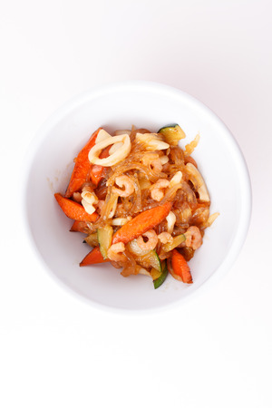 shrimps with vegetables photo