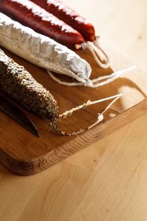 salame: spanish sausages