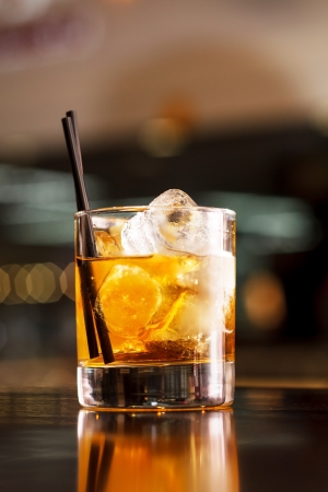 distilled alcohol: cocktail in the bar