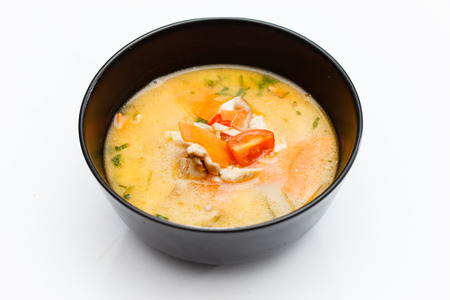 Soup made from Coco Milk and Vegetables photo