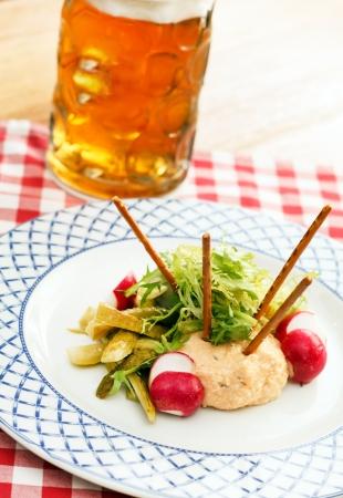 delicacy: Obatzda  is a Bavarian cheese delicacy Stock Photo