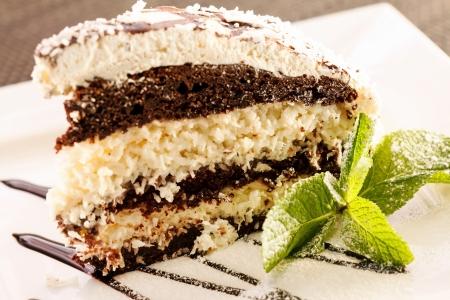 weihnachtskuchen: Kokos-Kuchen Lizenzfreie Bilder