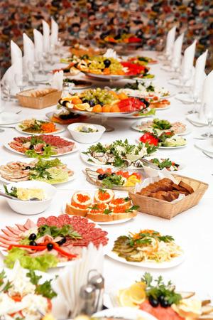 Alimentaire lors d'une fête de mariage Banque d'images - 26395821