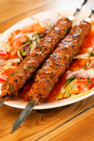 kebab on skewers photo