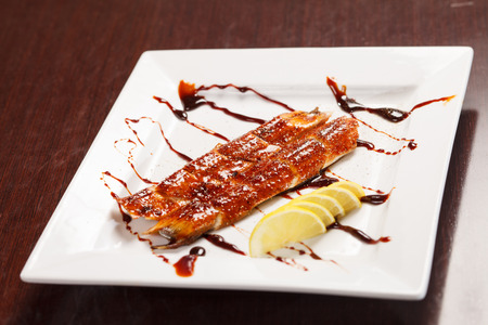 japanese food roast eel ( unagi )  photo