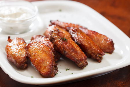 bbq chicken: Chicken wings with sauce Stock Photo