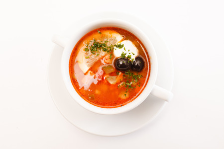 soljanka: solyanka soup Stock Photo
