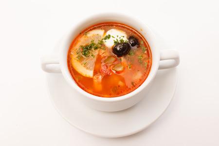 solyanka: solyanka soup Stock Photo
