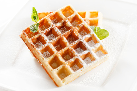 belgium waffles photo