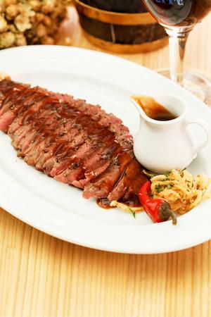 rump steak: steak in the bar