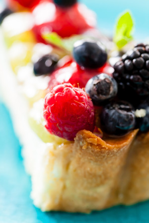 cake with fresh berries photo