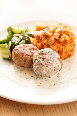 meatballs with cabbage photo