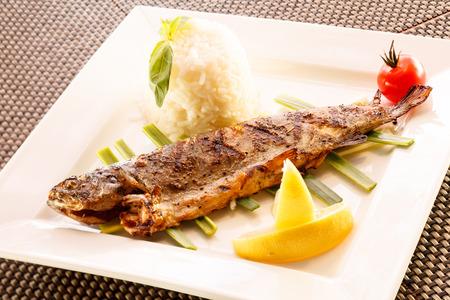 fish with rice photo