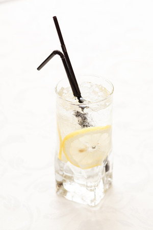 cocktail with lemon photo