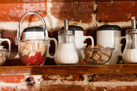 bar ware: shelf with cups on kitchen