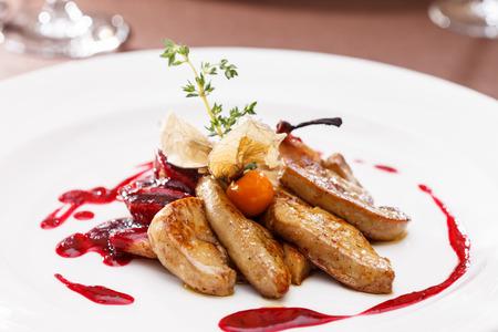 Foie Gras mit Sauce