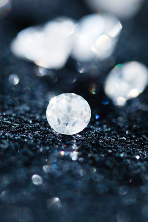 crystalline gold: diamonds on black background