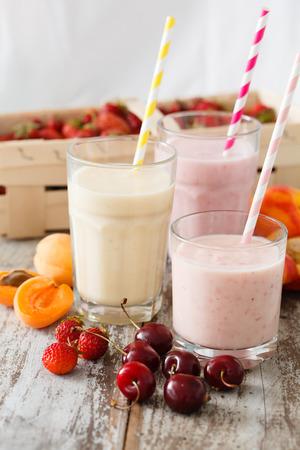 fruit smoothies Stock Photo