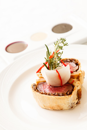 speciality: Fillet Wellington with fresh herbs