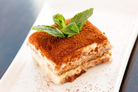 Tiramisu Kuchen Standard-Bild