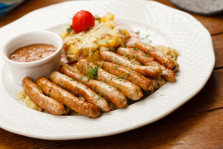 sausage with cabbage photo