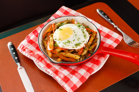 kitchen scraps: potatoes and egg in the bar