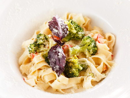 pasta with vegetables photo
