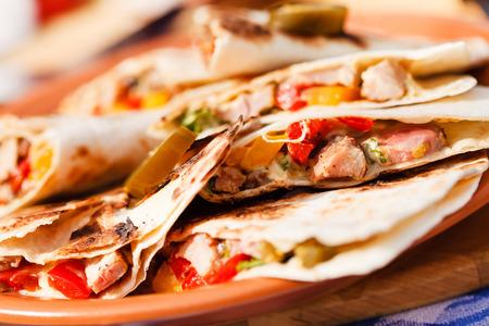 cruda: tortilla with vegetables Stock Photo