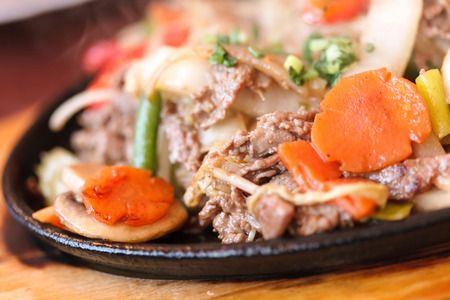 meat with vegetables photo