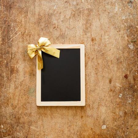 wooden frame and christmas decoration photo