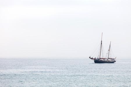 slipway: yacht in the sea Stock Photo