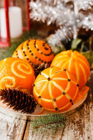 Christmas oranges photo