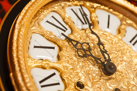 morning noon and night: gold clock