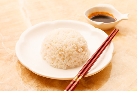 sou: rice with sou sauce Stock Photo