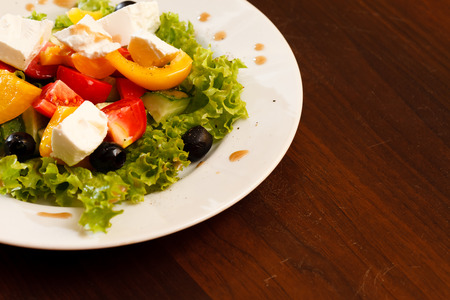 ready to cook food: Greek salad