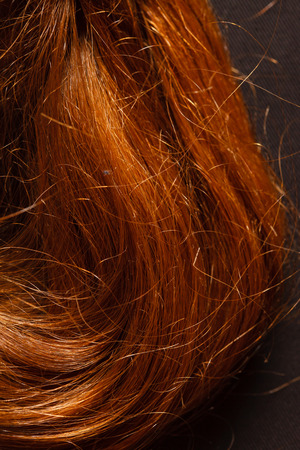 flaxen: Red Hair over black