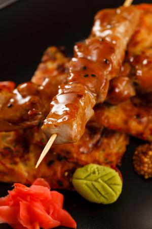 kebob: grilled beef skewers