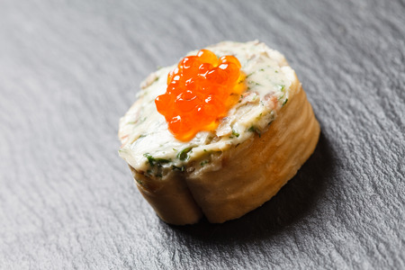 canape with caviar photo