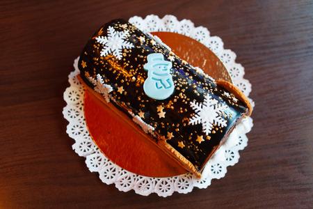 noel chocolat: no�l b�che au chocolat Banque d'images