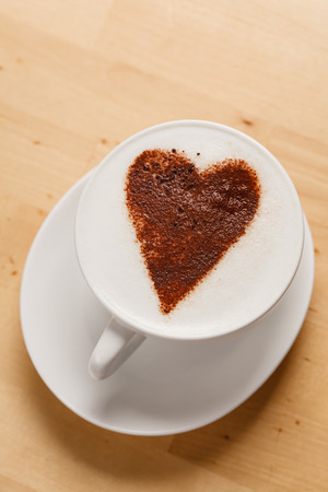 cappuccino with heart photo