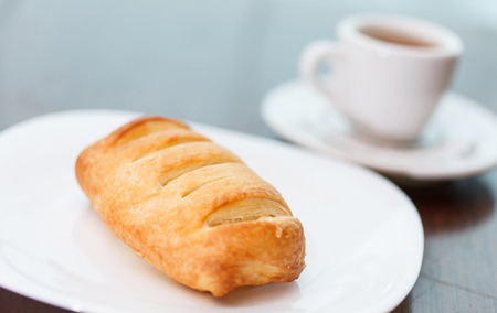 puff pastry: coffee with puff pastry