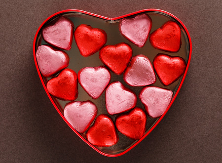 valentine          s day candy: heart box with sweets