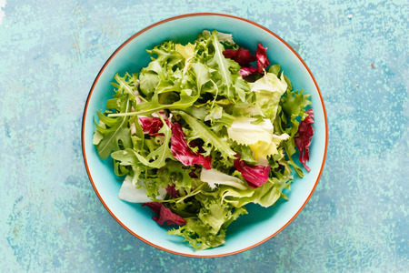 salads: Fresh green salad Stock Photo