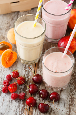 soured: fruit smoothies Stock Photo