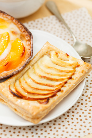 puff pastry: homemade puff pastry Stock Photo